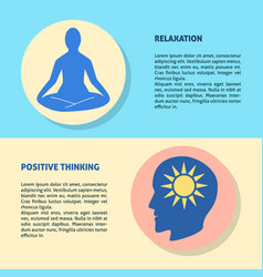 Relaxation and positive thinking concept flyer vector