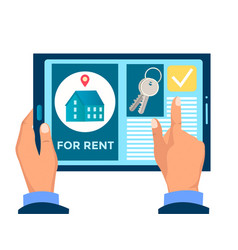 Rent sale and purchase real estate vector