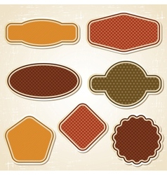 Retro Labels Stickers Set vector image