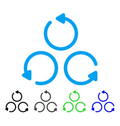 Rotation flat icon vector