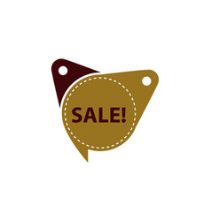 sale tag template isolated vector image