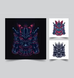 satan mecha japan vector image