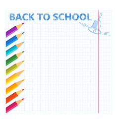 school pencil sheet vector image