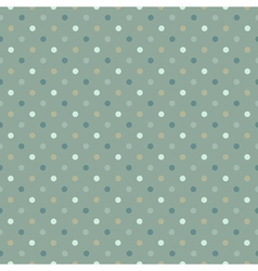 Seamless polka dot pattern cold gree gamut vector