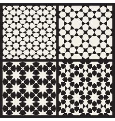 Set four seamless islamic stars vector