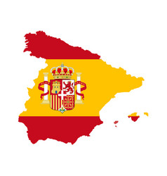 spain map with spain flag inside vector image