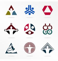 Sport logos abstract logotype vector