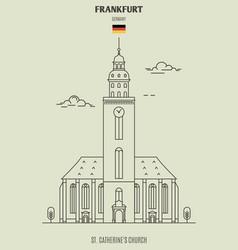 st catherines church in frankfurt vector image