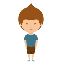 teenager with t-shirt and shorts vector image