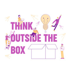 think outside concept people creative idea vector image