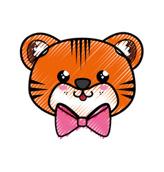 Tiger kawaii cartoon vector