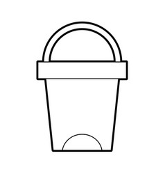 trash can bathroom tool plastic cleaning vector image