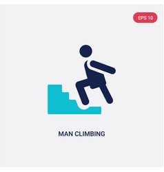 two color man climbing icon from behavior concept vector image