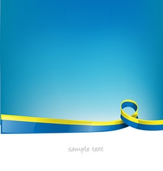 ukraine flag on sky background vector image