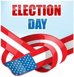 USA election day with ribbon flag vector