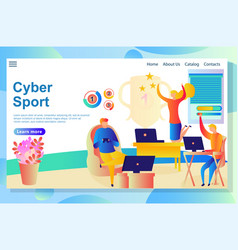 website page about cyber activities people vector image