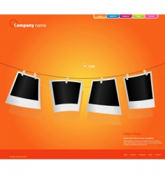 Website template with photos vector