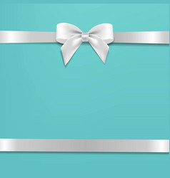 White bow with mint poster vector