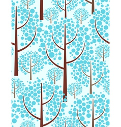 winter forest - seamless background vector image