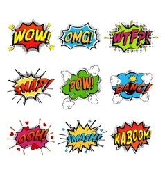 Set of comic speech bubble vector image vector image