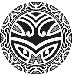 Taniwha circle vector image vector image