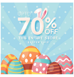 up to 70 off the entire store easter sale blue ba vector image