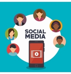 avatar smartphone social media isolated icon vector image vector image