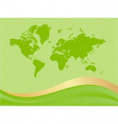 global map background vector image vector image
