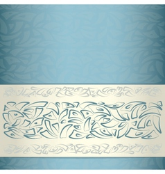 Ornamental pattern template vector image vector image