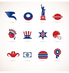 USA - collection of icons vector image