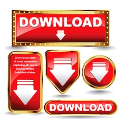 download buttons vector image