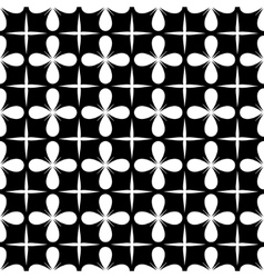 Flover and square seamless pattern vector image vector image