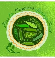 Hand Drawn Peas 01 A vector image vector image