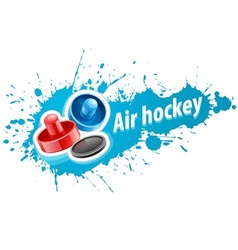 Mallets and puck for air vector image vector image