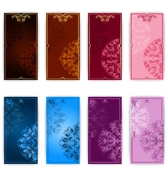 Set of template for elegant greeting card vector image
