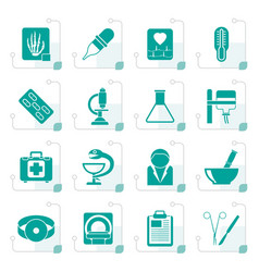 stylized healthcare and medicine icons vector image vector image