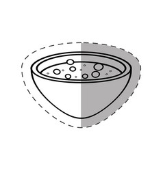 bowl potion magic icon vector image