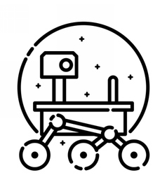 Mars Rover in Space vector image