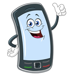 smart phone cartoon vector image