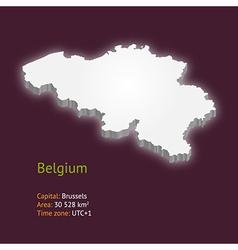 3d map of belgium vector image