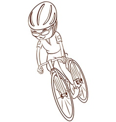 A plain sketch of a cyclist vector image