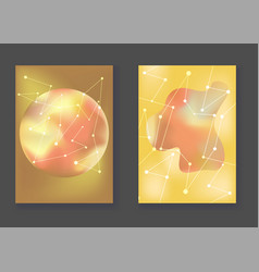 abstract bright orange cosmic backgrounds vector image