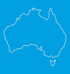 australia icon outline style vector image