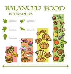 balanced food infographic vector image