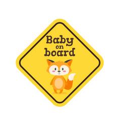 Baon board safety sign vector