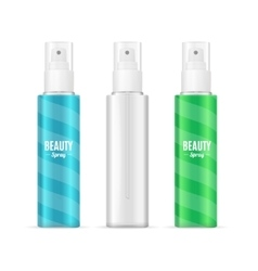 Beauty Spray Can Package SetRealistic Cosmetic vector image