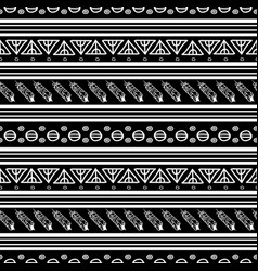 black and white ikat tribal seamless pattern vector image