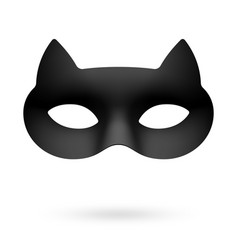 black cat masquerade eye mask vector image
