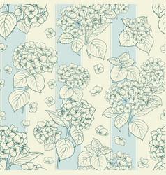 Blossom flower hydrangea vector
