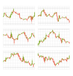 Business candle stick set trading graph chart on vector